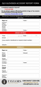 glovebox accident report form ver3 1 » What to do in a car accident in Queensland